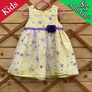 *$5 ADD ON* Spring Easter yellow dress 18-24 mo